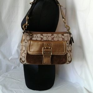 Coach Special Edition Shoulder Hobo Bag Gold Brown